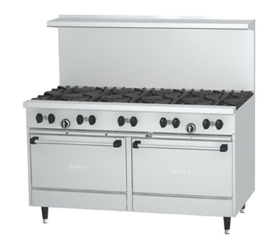 "Garland X60-10RR-LP 60"" Sunfire 10-Burner Gas Range, LP"