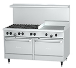 "Garland X60-6G24RR-NG 60"" Sunfire 6-Burner Gas Range with Griddle, NG"