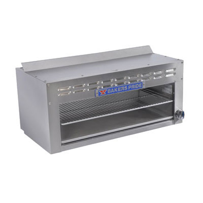 "Bakers Pride BPCM-48 48"" Infrared Burner Gas Cheese Melter, NG"