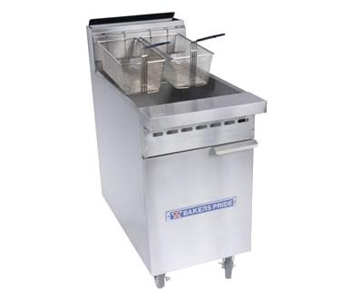 Bakers Pride BPF-6575 NG 4-Burner Fryer w/ 75-lb Capacit