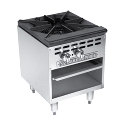 Bakers Pride BPSP-18J-16 LP Stock Pot Range w/ 16-tip Jet Burner, 125000-BTU, LP