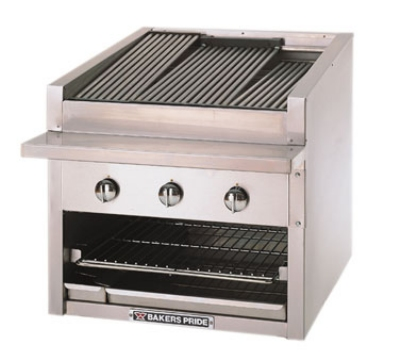 Bakers Pride C24GS LP 24 in Profile Charbroiler, 75,000 BTU, Counter Model, Glo-Stone, LP
