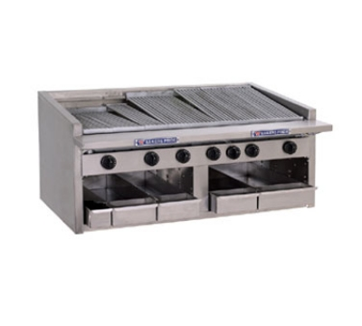 Bakers Pride C48R NG 48 in Profile Charbroiler, 165,000 BTU, Counter Model, SS Radiants, NG