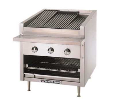 Bakers Pride C72R NG 72 in Profile Charbroiler, 255,000 BTU, Counter Model, SS Radiants, NG