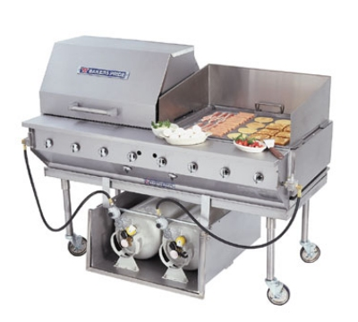Bakers Pride CBBQ30SCP NG 32 in Outdoor Charbroiler, 8 in D Work Deck, Complete Package, NG