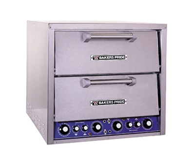 Bakers Pride DP2 Pizza Bake Oven - Countertop, 20.75x20.75x5.5 Baking Decks, Stainless Steel