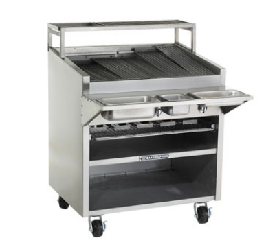 Bakers Pride F30R NG 30 in Charbroiler, 90,000 BTU, Floor Model, SS Radiants, NG