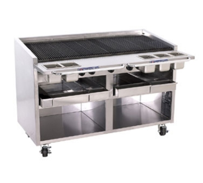 Bakers Pride F60R NG 60 in Charbroiler, 210,000 BTU, Floor Model, SS Radiants, NG