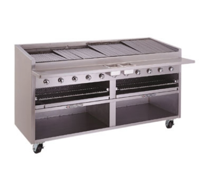 Bakers Pride F84GS LP 84 in Charbroiler, 300,000 BTU, Floor Model, Glo-Stone, LP