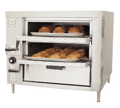 Bakers Pride GP51 NG Pizza / Bake Countertop Oven, Single Compartment, Double Deck, NG