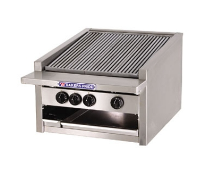 Bakers Pride L24R NG 24 in Low Profile Charbroiler, 75,000 BTU, Counter Model, Radiants, NG