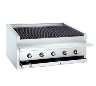 Bakers Pride L30R NG 30 in Low Profile Charbroiler, 90,000 BTU, Counter Model, Radiant, NG