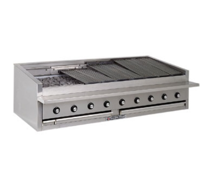 Bakers Pride L48GS NG 48-in Low Profile Countertop Charbroiler, Glo-Stone, NG