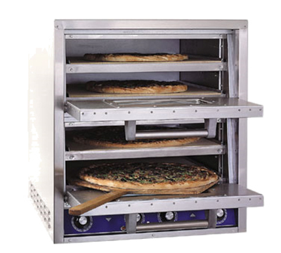 Bakers Pride P44BL Electric Double Deck Countertop Pizza/Pretzel Oven, 220/3v