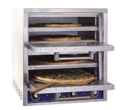 Bakers Pride P44S 2401 Pizza / Pretzel Countertop Oven, 2 Compartments, 4 Decks, 240/1 V