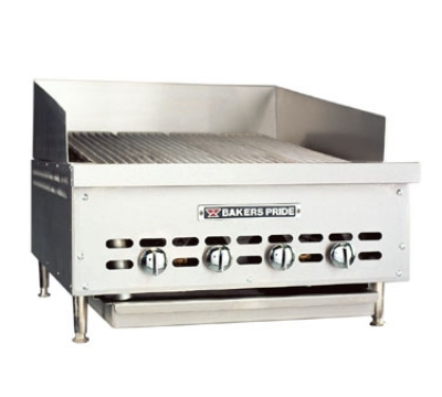 Bakers Pride XX6GSNG 36-3/4 in Extra Low Profile Charbroiler, Counter Model, Glo-Stone, NG