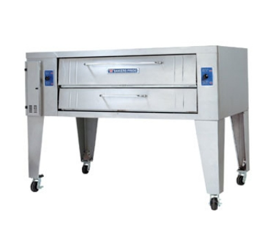 Bakers Pride Y802 NG Double Pizza Deck Oven, NG
