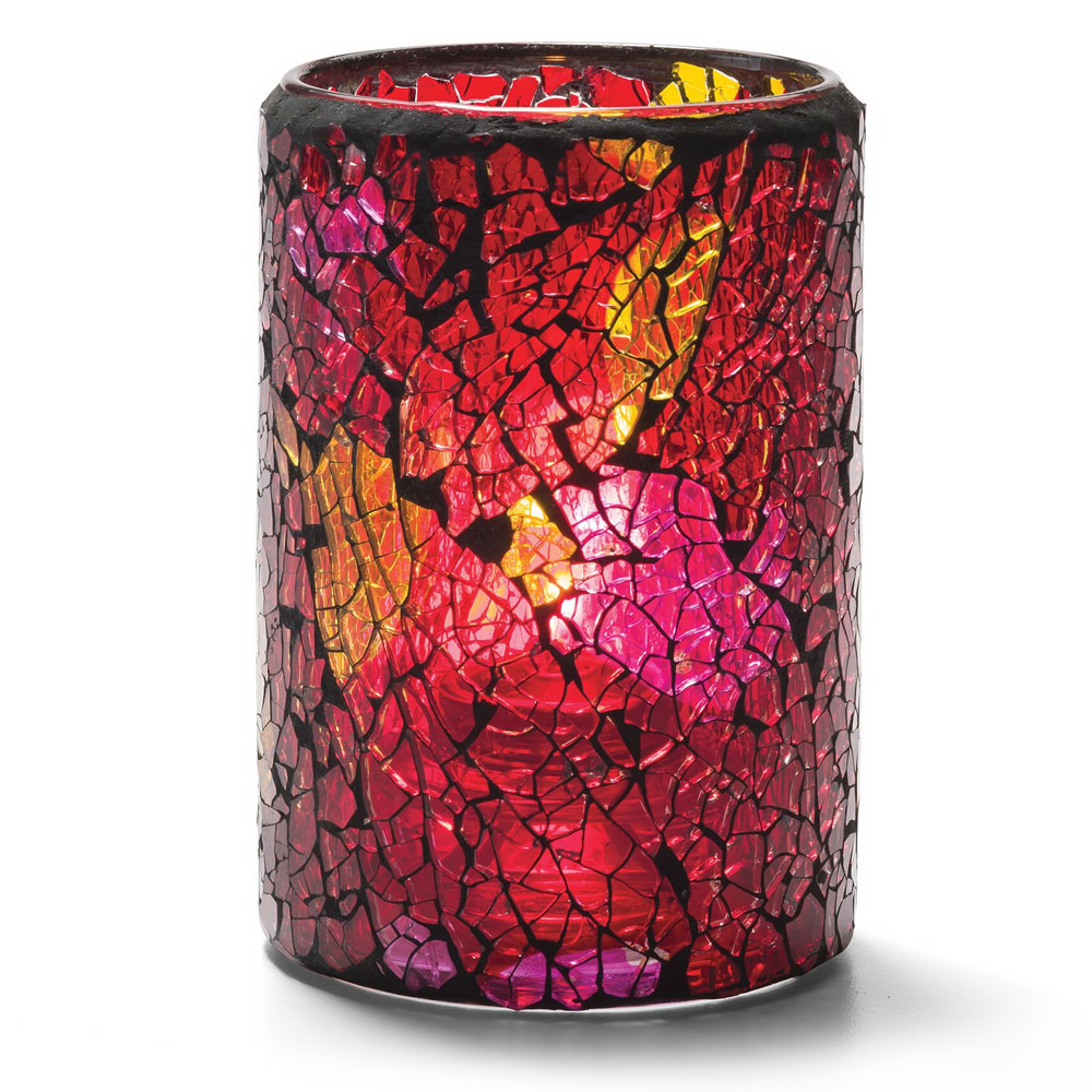 Hollowick 43017RG Crackle Lamp For HD26, HD17 & HD12, Red & Gold Glass