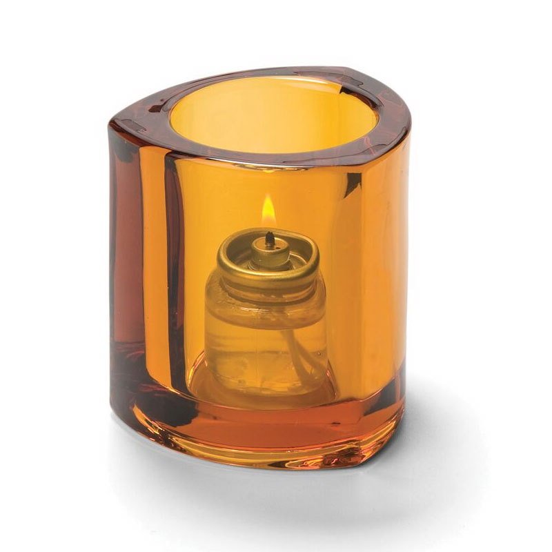 Hollowick 5160A Thick Triangle Tealight Lamp For HD8, Amber