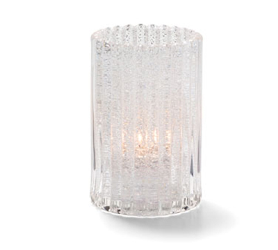 Hollowick 1502CJ Vertical Rod Lamp w/ Cylinder Shape, 2.88x4.63-in, Glass, Clear Jewel