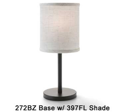 Hollowick 397FL Candlestick Shade w/ Drum Shape, 5.38x5.75-in, Fabric, Flax