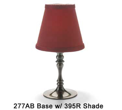 Hollowick 395R Empire Candlestick Shade, 4.5x5.13-in, Fabric, Scarlet