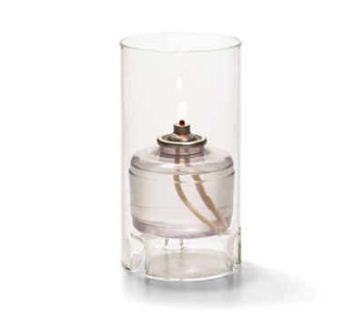 Hollowick 48000C Cylinder Lamp For HD36, 5.5x3-in, Glass, Cl