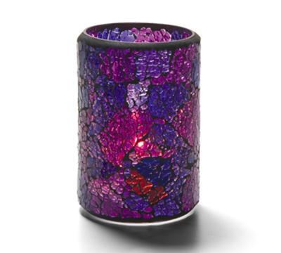 Hollowick 43017BP Crackle Lamp w/ Cylinder Style For HD26 & HD12, 3.13x4.5-in, Glass, Blue/Purple