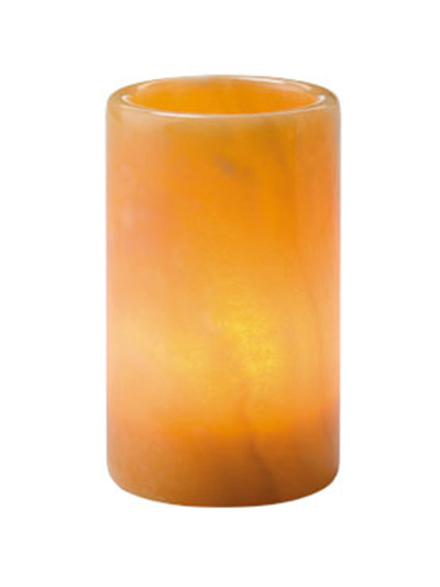 Hollowick 47017H Cylinder Lamp For HD12, HD17 & HD26, 4.75x2.75-in, Solid Onyx