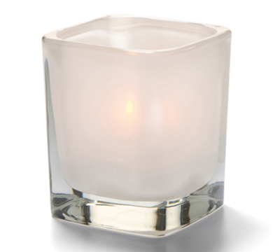 Hollowick 6505SL Tetra Votive For HD8, HD12 & HD15, 3.5x3-in, Satin Linen