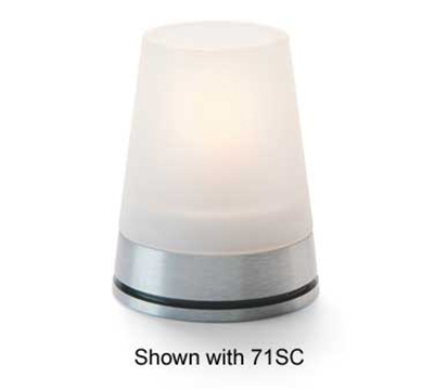 Hollowick GEM29 Gemini Lamp Base For 71SC Globe. 3.13x1.5-in, Brushed Aluminu