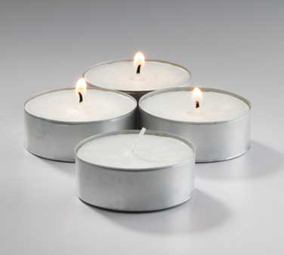 Hollowick MTL12W-224 Select Wax Mega Tealight Candle, 2.2
