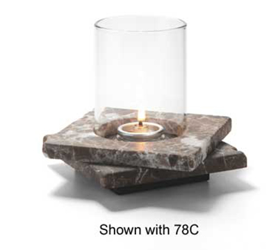 Hollowick ZEN-DEM2 Double Zen Lamp Base For 78C & 78SC, 5.5x1.25-in, Stone, Dark Emperador