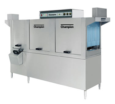 Champion 106PW 4803 Conveyor Hi-Temp Dishwasher w/ 2-Tanks & 22-in Prewash, 356-Rack/hr, 480/3V