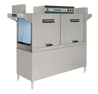 Champion 64 4803 Conveyor Hi-Temp Dishwasher w/ 2-Auto Fill Tanks, 278-Racks/hr, 480/3V