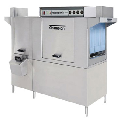 Champion 76 DRPW 2083 Dishwasher w/ Conveyor-Type Rack, 54-in Tank & 22-in Front Feed Prewash, 208/3 V