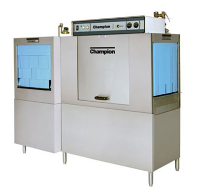 Champion 80 DRFFPW 2083 Dishwasher, Conveyor-Type Rack, 54-in Tank, 22-in Front Feed & Prewash, 208/3 V
