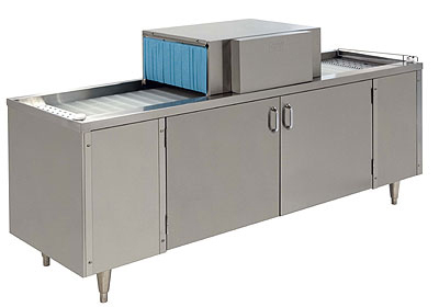 Champion CG6 Straight Conveyor Glass Washer w/ Low Temp Chemical Sanitizing, 72-in Cabinet