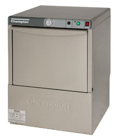 Champion UH-100 High Temperature Dishwasher w/ Airglide Door & Safety Switch, 21-Racks in 60-min