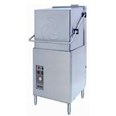 Champion DH-5000T(40-70) 2401 Door-Type Dishwasher w/ Extended Hood & Booster, 53-