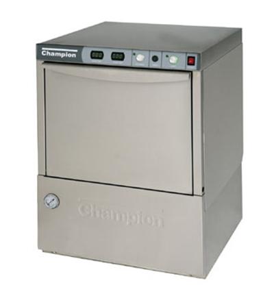 Champion UH-200B(40) 2401 Undercounter Hi-Temp Dishwasher w/ 40-F Rise, 30-Racks/hr, 240/1V