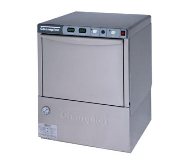 Champion UH-200B(70) 2081 Undercounter Dishwasher w/ 70-F Rise Booster & Pump, 30-Racks/Hr, 208/1V