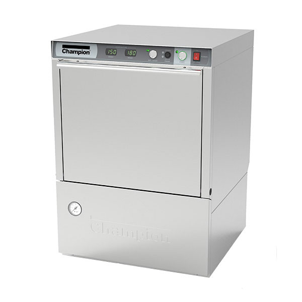 Champion UH-230B(40) 240/1 Undercounter Dishwasher w/ High Temperature, 40-Racks/Hr, 240/1v