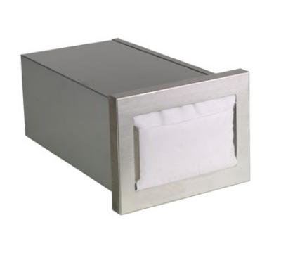 Dispense-Rite CMND1 Napkin Dispenser, Built-In, Holds 4-1/2 t