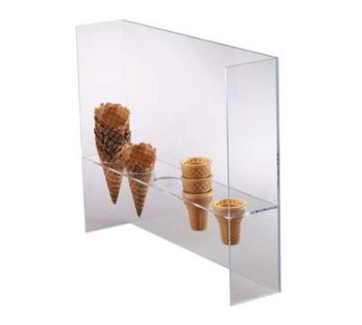 Dispense-Rite CSG5L Ice Cream Cone Holder w/ Guard, (5) 2 in Holes, Acrylic, Cl