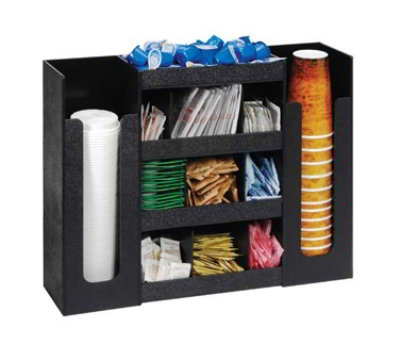 Dispense-Rite DLCO-5BT 6-Section Organizer, 16-3/4 x 20-3/4 x 5-1/2-in, Black