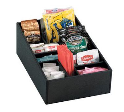 Dispense-Rite MICRO1 Self Serve Organizer, Micro, Removable Dividers, Black Polystyrene