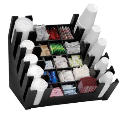 Dispense-Rite MLCCO-5BT 25-Section High Volume Organizer, 23 x 22 x 24-1/2-in, Black