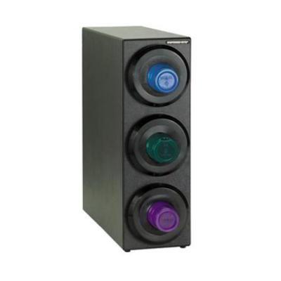 Dispense-Rite SLRS3BT Cup Dispensing Cabinet, (3) 8-44 oz Cups, Black Polystyren