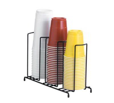 Dispense-Rite WR3 Lid/Cup Organizer, Wire Rack, 3 Section: (1)3-1/2 in, (1)4-1/4 in, (1) 5 in